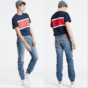 Levis 501 Premium Denim Joggers Straight Leg Jeans